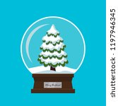 merry christmas glass ball with ... | Shutterstock .eps vector #1197946345