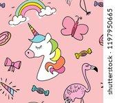 cute cartoon drawings of... | Shutterstock .eps vector #1197950665