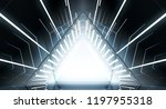abstract triangle spaceship... | Shutterstock . vector #1197955318