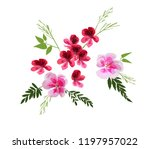 set of floral greeting card... | Shutterstock .eps vector #1197957022