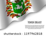 waving flag of tomsk oblast is... | Shutterstock .eps vector #1197962818