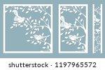 branch birches. linden. bird on ... | Shutterstock .eps vector #1197965572