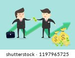 good investment makes it reach... | Shutterstock .eps vector #1197965725