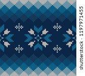 christmas knitted pattern.... | Shutterstock .eps vector #1197971455
