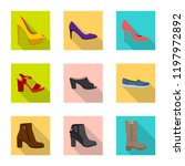 isolated object of footwear and ... | Shutterstock .eps vector #1197972892
