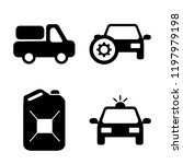 set of 4 simple vector icons... | Shutterstock .eps vector #1197979198