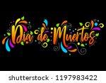 dia de muertos. day of the dead ... | Shutterstock .eps vector #1197983422