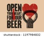 beer phrase typographical... | Shutterstock .eps vector #1197984832