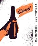 beer typographical vintage... | Shutterstock .eps vector #1197984865