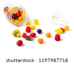 Glass Candy Jar Filled With...