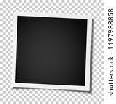 retro realistic square photo... | Shutterstock .eps vector #1197988858