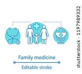 family medicine concept icon.... | Shutterstock .eps vector #1197989332
