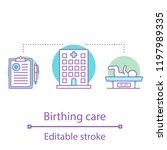 birthing care concept icon.... | Shutterstock .eps vector #1197989335