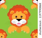 lion cub seamless pattern....   Shutterstock .eps vector #1197990868