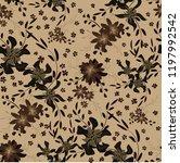 little floral seamless pattern... | Shutterstock .eps vector #1197992542
