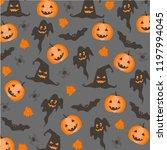 halloween holiday pattern... | Shutterstock .eps vector #1197994045