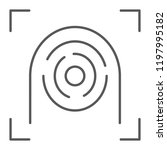 fingerprint scanner thin line... | Shutterstock .eps vector #1197995182