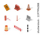 set of different signs road... | Shutterstock . vector #1197996388
