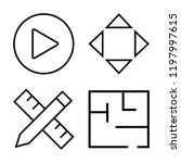 set of 4 simple vector icons...