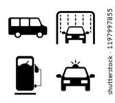 set of 4 simple vector icons... | Shutterstock .eps vector #1197997855