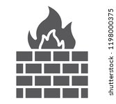 firewall glyph icon  fire and... | Shutterstock .eps vector #1198000375