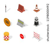 set of different signs road... | Shutterstock . vector #1198000492