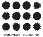 set of vector starburst ... | Shutterstock .eps vector #1198000705