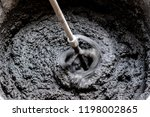 concrete mixing with electrical ... | Shutterstock . vector #1198002865