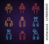 emotional stress neon light... | Shutterstock .eps vector #1198003045