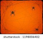 orange halloween background... | Shutterstock .eps vector #1198006402