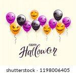 lettering happy halloween on... | Shutterstock .eps vector #1198006405
