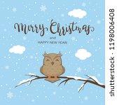 lettering merry christmas on... | Shutterstock .eps vector #1198006408