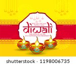 diwali festival holiday design... | Shutterstock .eps vector #1198006735