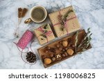 christmas gift boxes decoration ... | Shutterstock . vector #1198006825
