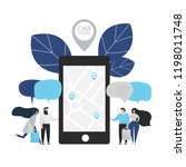 carsharing concept illustration ... | Shutterstock .eps vector #1198011748