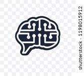 future brain transparent icon.... | Shutterstock .eps vector #1198015912