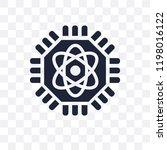 quantum computing transparent... | Shutterstock .eps vector #1198016122