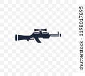 sniper rifle transparent icon.... | Shutterstock .eps vector #1198017895