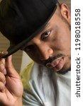 rapper culture concept. black... | Shutterstock . vector #1198018558