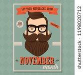 no shave november poster design ... | Shutterstock .eps vector #1198020712