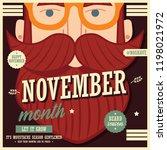 no shave november poster design ... | Shutterstock .eps vector #1198021972
