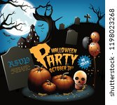 halloween party background.... | Shutterstock .eps vector #1198023268