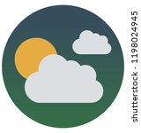 cloudy day isolated vector... | Shutterstock .eps vector #1198024945