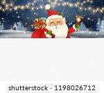 happy santa claus standing... | Shutterstock . vector #1198026712