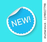 new sticker icon isolated on a... | Shutterstock .eps vector #1198027798