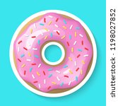 donut isolated on a white... | Shutterstock .eps vector #1198027852