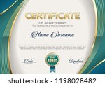 certificate of achievement....   Shutterstock .eps vector #1198028482