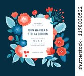 floral wedding invitation. folk ... | Shutterstock .eps vector #1198030522