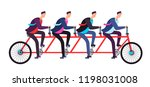 business people riding on...   Shutterstock .eps vector #1198031008