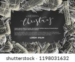 vector merry christmas... | Shutterstock .eps vector #1198031632